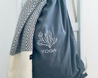 YOGA Bag Jute Bag Backpack Coral Grey FAIRTRADE Bag