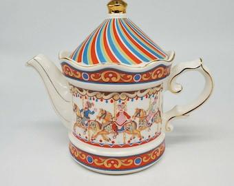 James Sadler WINDSOR Teapot Edwardian Entertainment Carousel Made In England