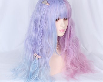 Mystery Box New Wig Pink Brown Curly Straight Cute Surprise Kawaii Cute Unisex Pastel Lolita different styles