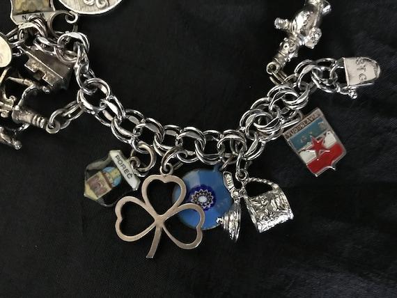 Vintage Sterling Silver Charm Bracelet - image 9