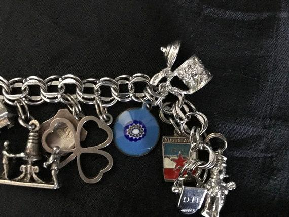 Vintage Sterling Silver Charm Bracelet - image 8