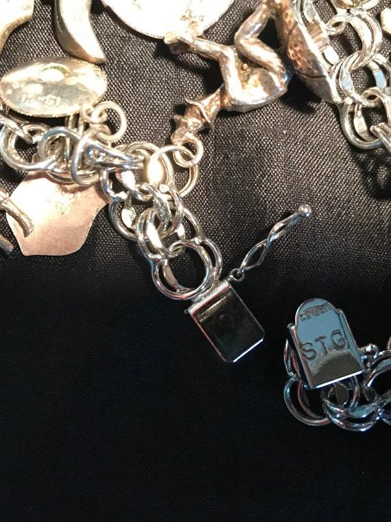 Vintage Sterling Silver Charm Bracelet - image 3