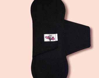 Black fabric slip insert with Velcro fastener