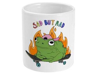 sad but rad frog mug