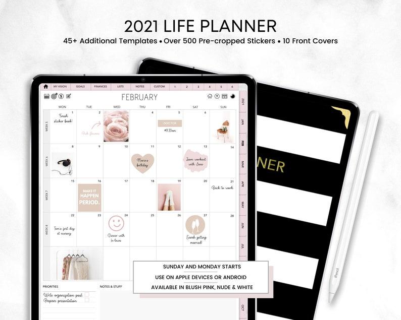 2021 Digital Life Planner  Dated & Hyperlinked Planner  For image 0