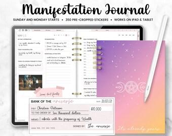 Digital Manifestation Journal, Manifestation Workbook, Undated Planner, Gratitude Journal | Manifest Your Dreams | Law of Attraction