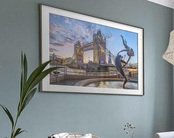Tower Bridge, London UK. Premium Photography Art Print.