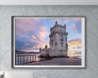 Belem Tower. Lisbon, Portugal. Premium Photography Art Print.