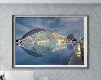 L'Hemisfèric. Valencia, Spain. Premium Photography Art Print.