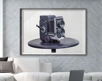 Mamiya C330 film camera, still life Premium Photography Art Print.