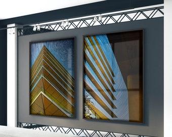 Sharp Sky London, UK (Set of 2) Premium Photography Art Prints.
