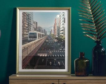 Daan District. Taipei, Taiwan. Premium Photography Art Print.
