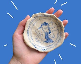 fairy girl ceramic tray plate