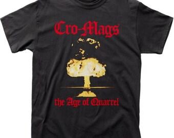 Cro-Mags Logo T Shirt Mens Licensed Rock N Roll Music Band Tee New Black