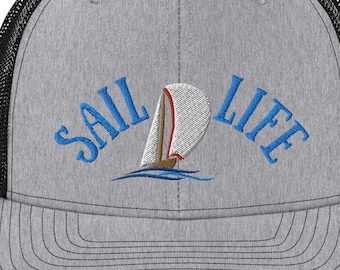 Chesapeake Sailing Distressed Dad Hat boating nautical baseball hat Sailing