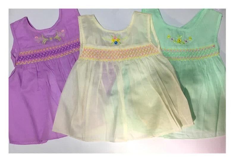 Newborn Handmade Baby Frocks 100/% Pure Cotton  Smock frock patterns 2PCS SET