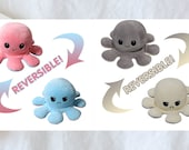 Reversible Octopus Plush Emotional Octopus Soft Plush mood Tik Tok Octopus. Show your mood without saying. Mood Octopus