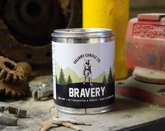 Bravery Soy Wax Candle | Eucalyptus | Blue Spruce
