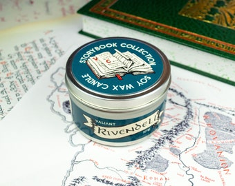 Rivendell | Lord of the Rings Themed Soy Wax Candle | Hobbit | Elves | LotR | Middle Earth | Rose Petals | Sandalwood