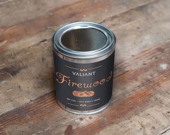 Firewood Soy Wax Candle | Wood & Smoke