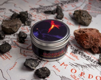 Mordor | Lord of the Rings Themed Soy Wax Candle | LotR | Middle Earth | Dragon's Blood | Patchouli | Clove