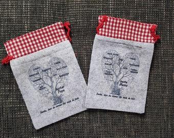 Gift bag, Christmas bag, gift bag, personalized