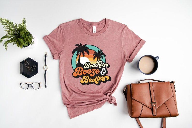 Bachelorette Shirts Friends Trip Shirt Girls Trip Shirt Beach Tee Beaches Besties Shirt Best Friend Vacation Shirt Girls Weekend Shirt