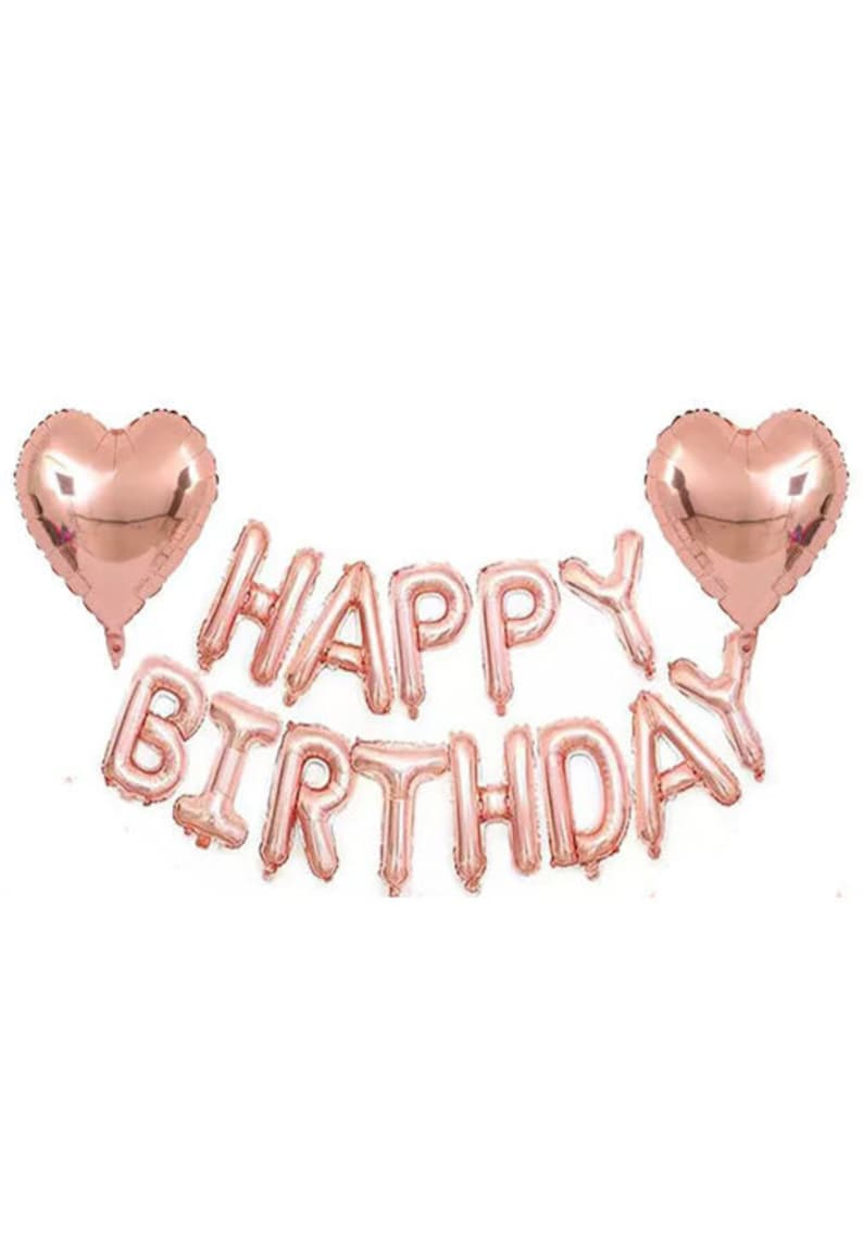 rose gold happy birthday party decorations balloon for girls or women