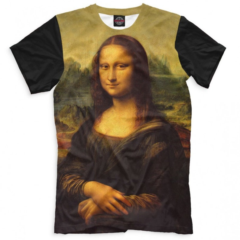 Mona Lisa by Leonardo da Vinci T-Shirt Men's Women's image 0