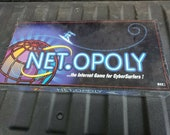 Original Factory 1999 Net.Opoly Board Game Complete Monopoly Netopoly