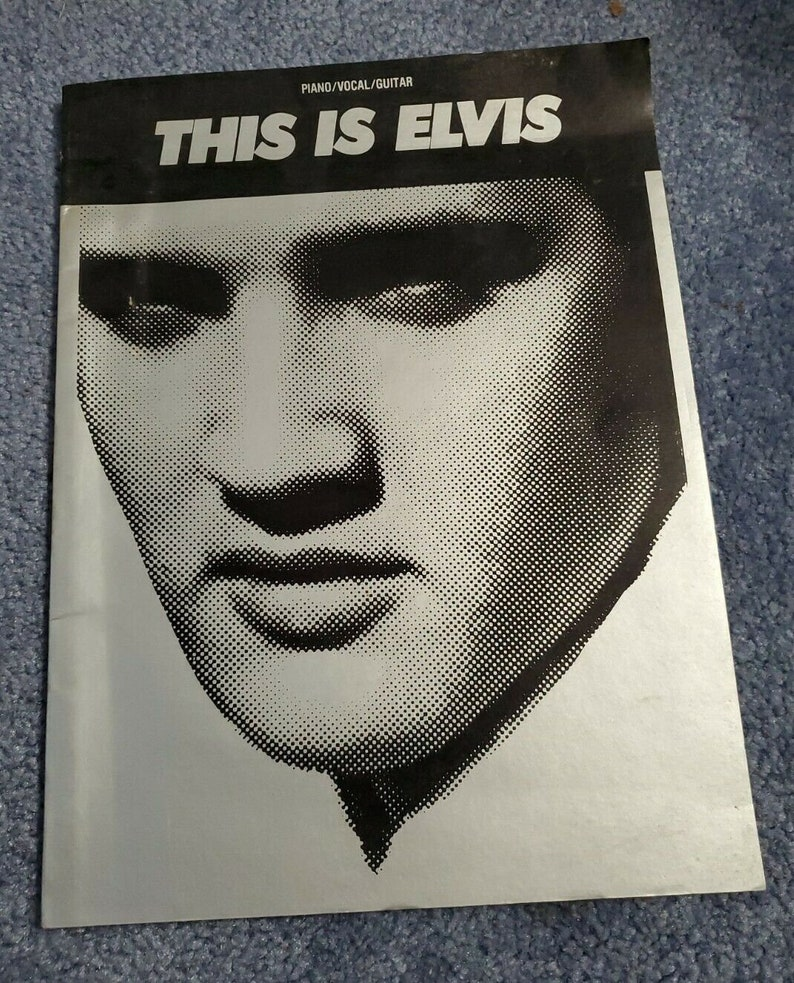 This is Elvis Piano Vocal Guitar Music Book Songbook Hal image 0