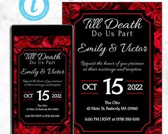 Till Death Do Us Part Gothic Wedding Invitations
