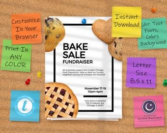 Bake Sale Flyer Template A4 Standard Printer Paper Size
