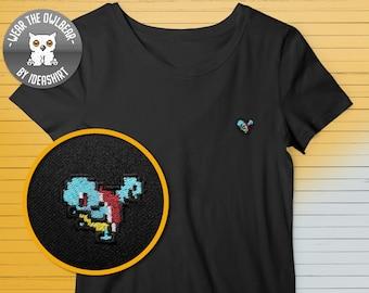 Pokemon Squirtle embroidery t-shirt pixelart original Gameboy cute mini print 8-bit Nintendo sweet gift for Poke lover Pokemon Go fan
