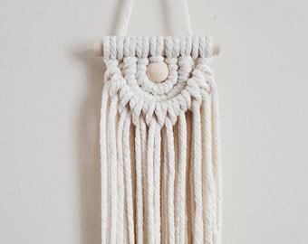 Woven wall art. SNOW CONE petite weaving