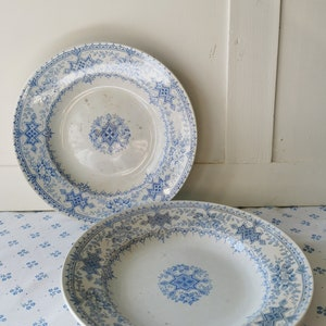 Antique French 3 bowls DURALEX vintage shabby chic rustic kitchen French flat glass tableware old soup canteen Made in France