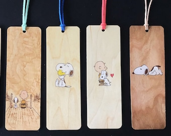 Charlie Brown and Snoopy Bookmarks   Handmade burned wood bookmark   Snoopy Bookmark   Snoopy Doghouse   Charlie Brown   Woodstock   Peanuts