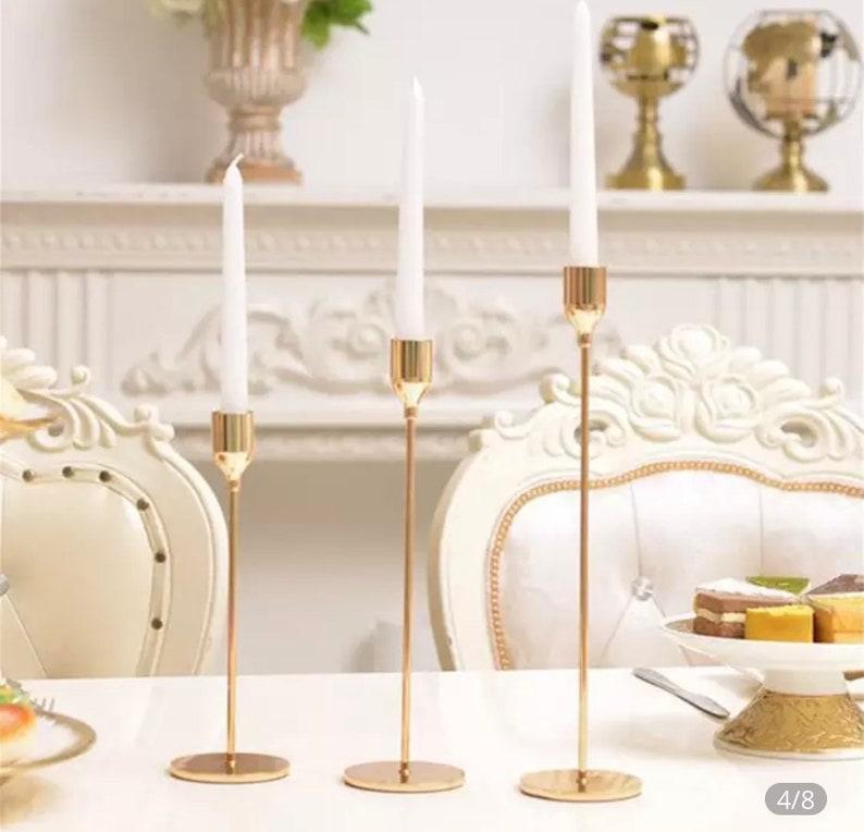 Kerzenständer in Gold