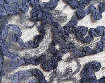 Carnation Prints On 216-Lace Fabric PATTERNPrint Swatch Sample 3 Colors Available Style TCH-LACE-1033