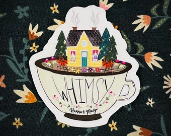 Whimsy Teacup Sticker