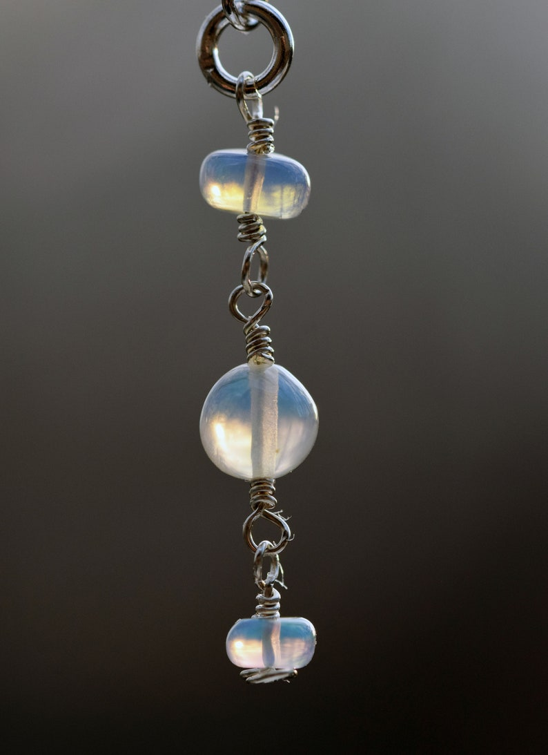 Ethiopian Welo Opal with Sterling Silver Ear Threader Earrings *October Birthstone*