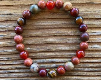 Women/'s Natural Gemstone wSilver-tone Lion Head Bracelet  #onyx #lioness #strongwoman #gemstonebracelet