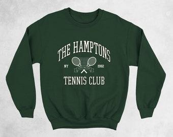 The Hamptons Tennis Club Sweatshirt, Vintage Style Sweatshirt, Aesthetic Tennis Sweatshirt, Retro Sweatshirt