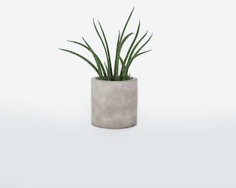 Geometric cylinder concrete pot- concrete flower pot