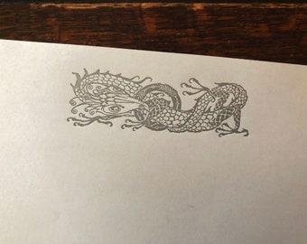 Letterpress Stationary: Arthur Rackham Fantasy Designs - Dragon Entwining