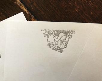 Letterpress Stationary: Arthur Rackham Fantasy Designs - In Thought
