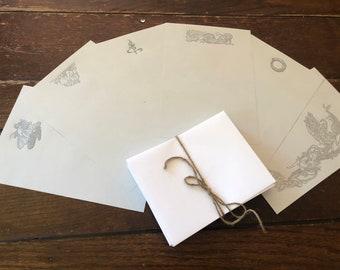 Letterpress Stationary: Arthur Rackham Fantasy Designs - 30 Sheets