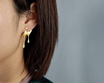 Unusual Hypoallergenic Cool Unique Earrings Geometric Statement Mobile Earrings Unique gifts Nickel Free Handmade