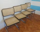 1 of 3 Mid-Century Modern Cesca Chair Marcel Breuer B32 Italian Cesca Wicker Dining Chair Bauhaus Vintagechair