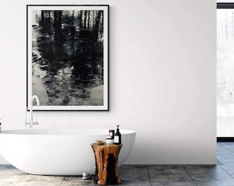 Photo Print / Fine Art Photo Prints / photo Wall art/ signed photo / limited edition photo / lake landscape - Reflections in Black